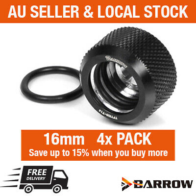 Barrow Water Cooling 4 Pack 16mm OD Rigid Hard Acrylic Tube Compression Fitting