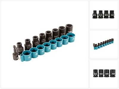 MAKITA B-54645 9Pc. Impact Wrench Socket Set Inc 1/4 to 1/2 Sq Adapter