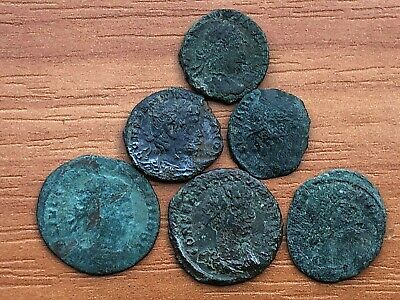 Lot of 6 Ancient Roman Bronze Coins Roman Legion Constantine the Great Dynasty.