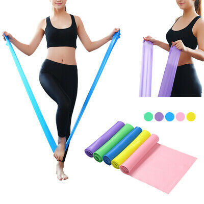 Elastic Yoga Pilates Gym Exercise Resistance Bands Rubber Fitness Straps Physio