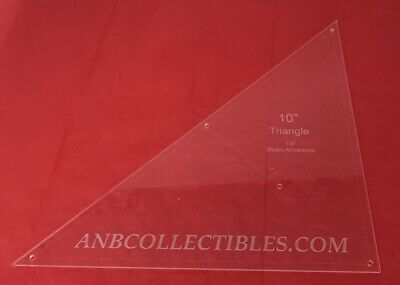 """1/4"""" Thick Acrylic Triangle Quilting Template (Choice of Sizes)"""