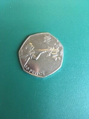 Rare London 2012 Olympic Games Shooting 2011 Fifty Pence Circulated