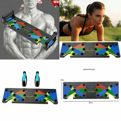 9in1 Push Up Rack Board Fitness Workout Strength Training Exercise Pushup Stands