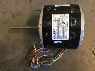 A.O. Smith 1/3HP DIRECT DRIVE BLOWER MOTOR 208-230 RPM:1075/3-SPEED AMPS 3.1