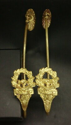Large Pair Of Tie Backs, Louis Xvi Style, Era 19Th - Bronze - French Antique