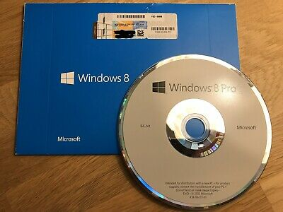 Genuine Windows 8 / 8.1 Pro OEM 64-bit, original packaging, with licence key