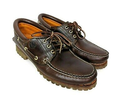 Details about Timberland 50009 Heritage 3 Eye Brown Leather Deck Boat Shoes Size UK 8 11