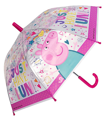Children's Official Licensed Peppa Pig Transparent Umbrella Brand New