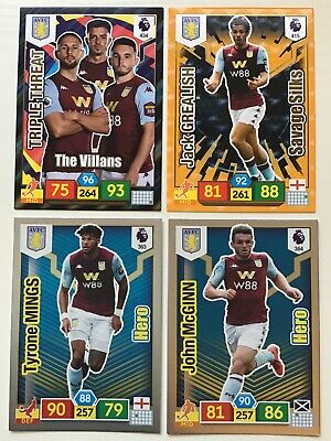 Panini Adrenalyn Xl Premier League 2019/20 Aston Villa 4 Special Insert Cards
