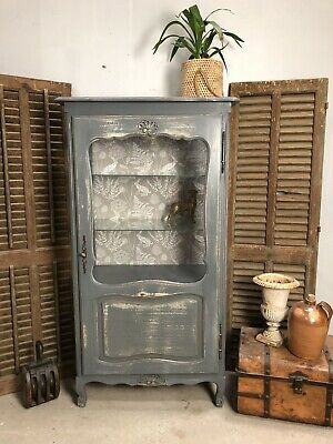 Antique French Cabinet/ Painted Shabby chic style/ Bookcase (VB581)