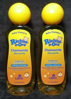 2 Ricitos de Oro Chamomile Hypoallergenic Natural Lightening Baby Shampoo~13.5oz