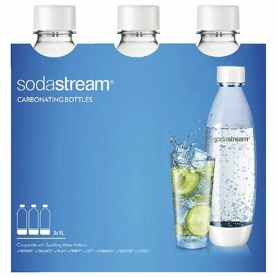 SodaStream Fuse Drink Bottles 3 Pack White