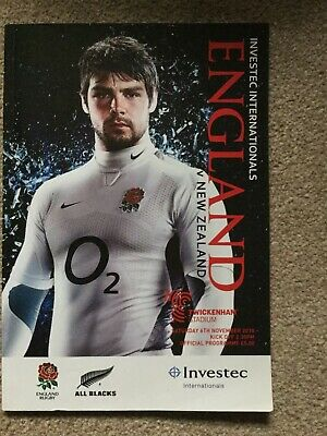 England v New Zealand 2010 Rugby Programme November 6th 06/11 All Blacks