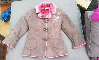 Matthew Williamson Butterfly Debenhams Faux Shearling Sheepskin Coat Jacket 5y