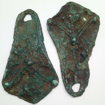 Bronze Large Amulet  Duck Paw 71mm / Weight Pendant  2pc. 800-1100AD.  Viking