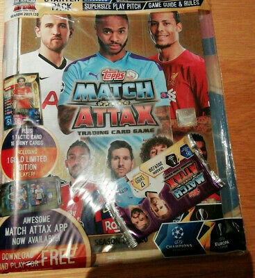 Topps Match Attax 2019/2020 SEALED Starter Pack: Binder+Cards+Limited Edition+++
