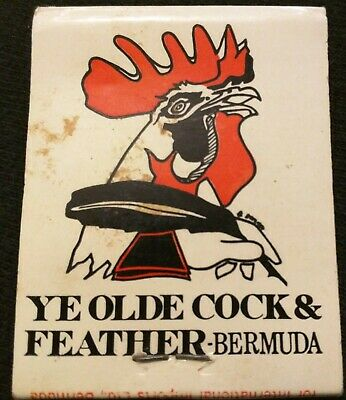 YE OLD COCK & FEATHER/PENTHOUSE Hamilton BERMUDA Burnaby Matchbook Pickled Onion