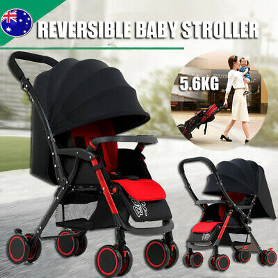 Baby Pram Stroller Compact Lightweight Buggy Foldable Pushchair Travel Carry