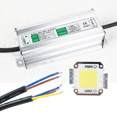 sourcingmap 80W LED Driver Waterproof IP67 Power Supply High Power Adapter + 80W