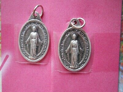 2 miraculous medals FREE SHIPP Our Lady of ,St. Catherine Laboure Virgin Mary