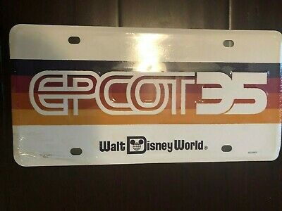 Walt Disney World Epcot 35 License Plaet