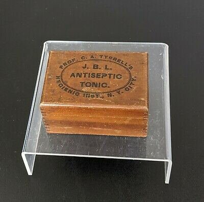 VTG Tyrrells Hygienic Wooden Box J.B.L Antiseptic Tonic Medicine Advertising