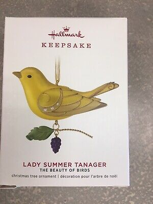 Hallmark 2019 Ornament - The Beauty of Birds Lady Summer Tanager