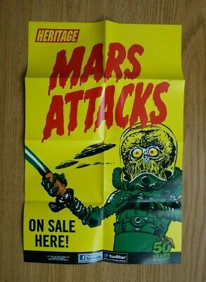 Topps Mars Attacks 2012 Heritage Space Cards Advertising Poster