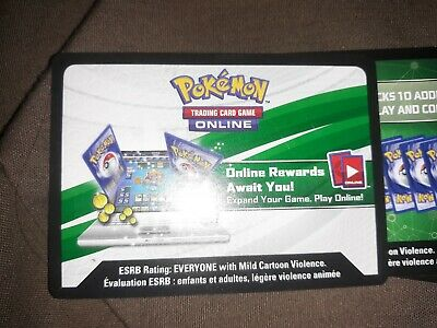 X8 POKEMON ONLINE TCG BOOSTER PACK CODE CARD LOT Sun and Moon, Unified Minds, XY
