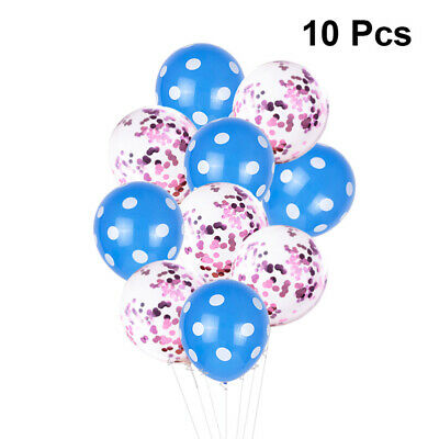 10pcs Dots Decor Balloon Shining Latex Balloon for Gathering Wedding Party