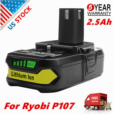 For Ryobi P102 P107 P108 One+ Lithium Compact Battery 18 Volt Li-Ion P103 P109 Q
