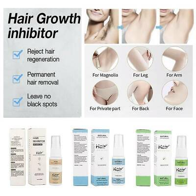 100% Natural Permanent Hair Removal Spray & Hair Growth Inhibitor Powerful 20g