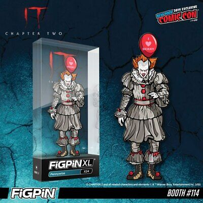 NYCC 2019 Pennywise Figpin XL X24 Brand New Sealed IT Limited 750