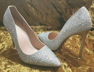 New Crystal Embelished Size 36-5 Stiletto Heel Shoes Wedding, Red Carpet.