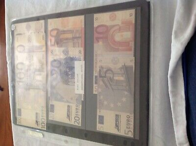 Euro promotional banknotes x 7 Unc