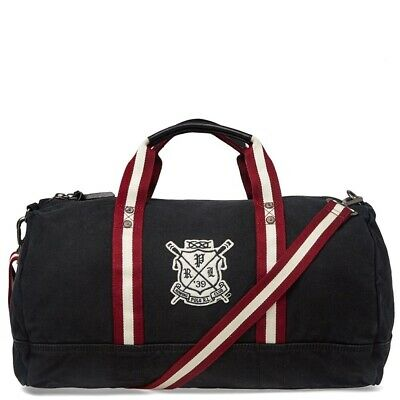 Bnwt Polo Ralph Lauren Rowing Club Embroidered Holdall Weekend Bag Luggage
