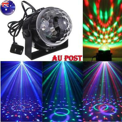 Disco Party DJ LED RGB Stage Effect Light Lamp Laser Crystal Magic Mini Ball New