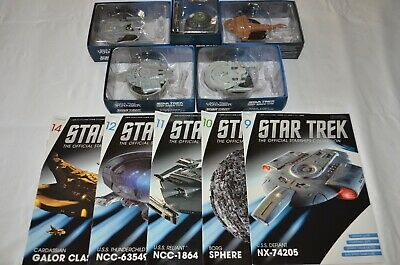 Bulk Lot #2 - Star Trek Starships - Eaglemoss - Issues 9, 10, 11, 12, 14