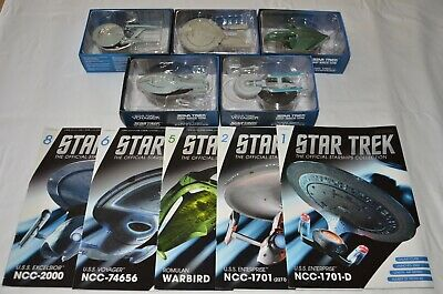 Bulk Lot #1 - Star Trek Starships - Eaglemoss - Issues 1, 2, 5, 6, 8
