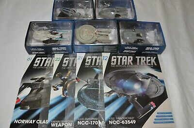 Bulk Lot #7 - Star Trek Starships - Eaglemoss - Issues 12, 21, 22, 61 + Bonus