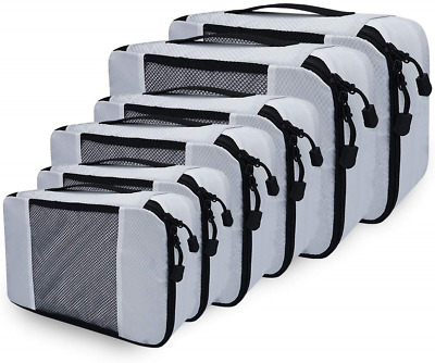 Netspower Packing Cubes for Suitcase, 6 Travel Luggage Organiser Set High Travel