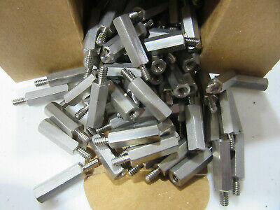 """(100) RAF 4538-632-SS Standoffs Stainless Male/Female 6/32 X 34"""" Long NEW!!!"""
