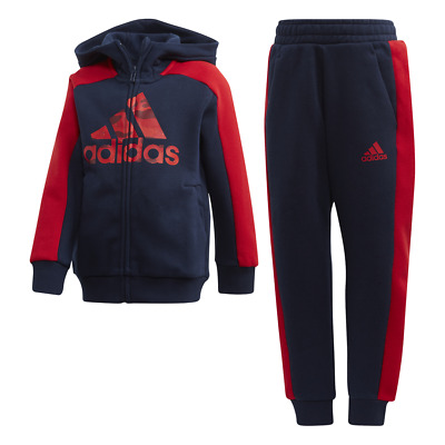 Adidas Kids Linear Tracksuit Running Graphic Hoodie Set Girls Sport Gym FK5876