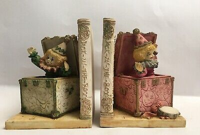 Clown Book Ends Jack In Box Bookends