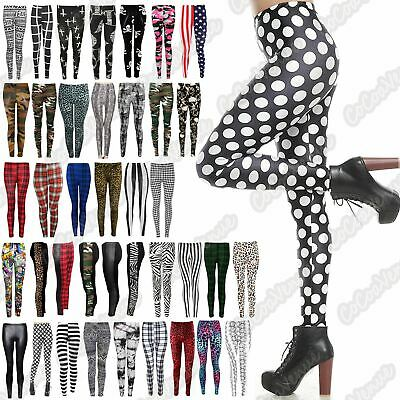 Ladies Animal Printed Full Length Stretch Slim Fit Fitness Leggings Pant Trouser