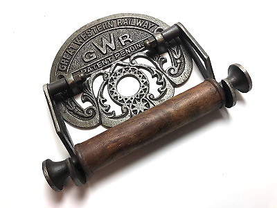 Traditional GWR railways vintage design victorian wall mounted toilet loo roll