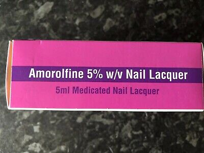 Amorolfine 5% w/v Medicated Nail Fungal Treatment Lacquer 5ml (Curanail Loceryl)