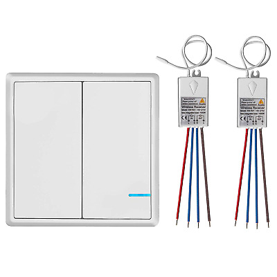 TSSS 2 Way Wireless Lights Switch with Receiver - Remote Multiunit House Lamps -