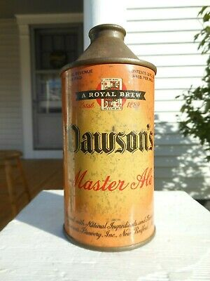 Antique IRTP DAWSONS MASTER ALE Cone Top Beer Can - Historic New Bedford, Mass.