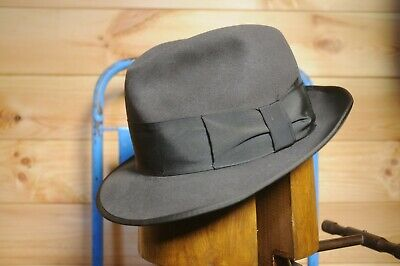 Vintage Grey Fedora Trilby Hat by Stanton Eu 56 UK 6 7/8 US 7